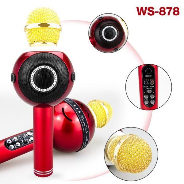 Bežični mikrofons hi-fi zvučnik WSTER WS-878