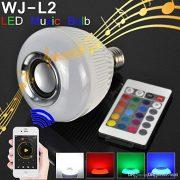 RGB LED svjetiljka Bluetooth zvučnik Model WJ-L2 6W E27