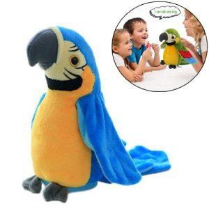 Plišana igračka papiga koja priča i ponavlja za vama
